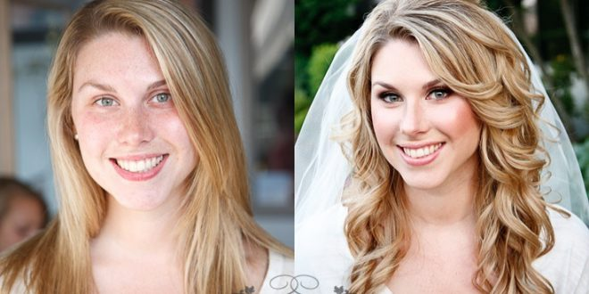20 Pictures of Brides Before and After Makeup And Hairstyle! Wedding Hairstyle