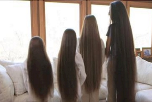 This Mom and Her Daughters Never Cut Their Hair! Hair Styling Tips
