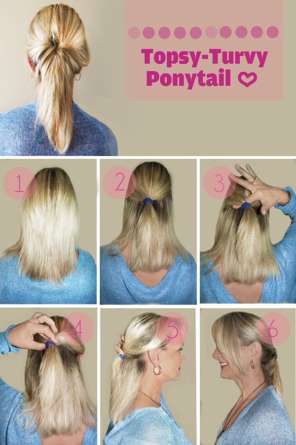 30 models and tutorials of ponytails to stitch Fast Simple Hairstyles