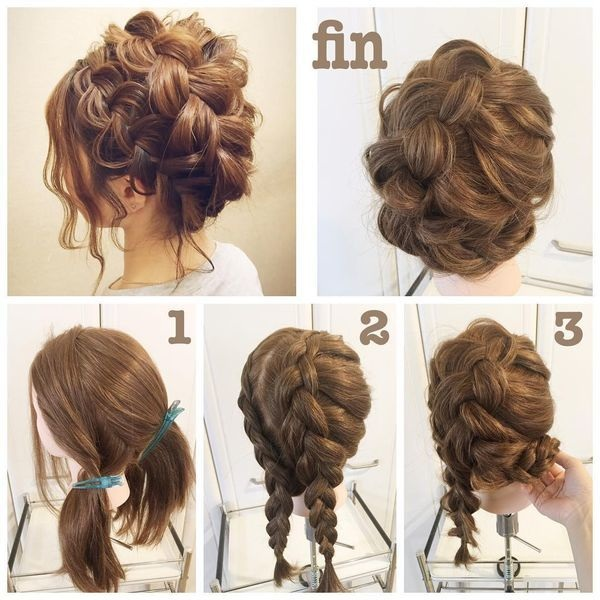 braided bun hair tutorial: the most beautiful tutorials and photos Hairdressing