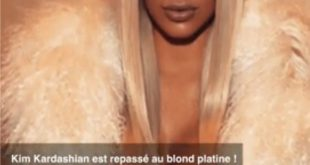 Kim Kardashian changes her look again and opts for platinum blonde !!! Hair Styling Tips