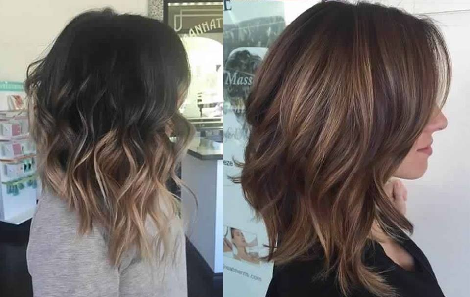 Shaded Hair Medium Hair: Best Models Hair Color Ideas