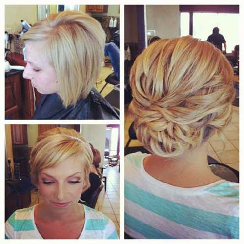 5 Beautiful Chignons On Short Hair New Hairstyle Trends