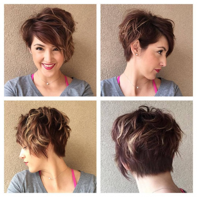 For Your Short Cut Here are The Best Patterns of Stitching Colors Hair Color Ideas