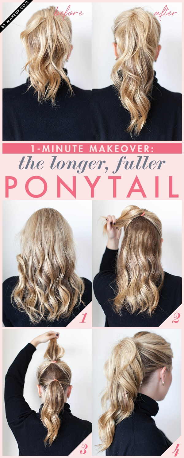 15 Ponytails you can do in a month of a minute Everyday Hairdressing