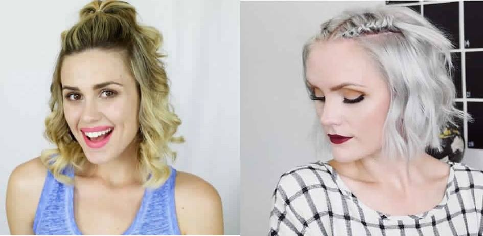 20 Quick and Convenient Hairstyles for Short and Medium Hair on New Year's Eve Fast Simple Hairstyles