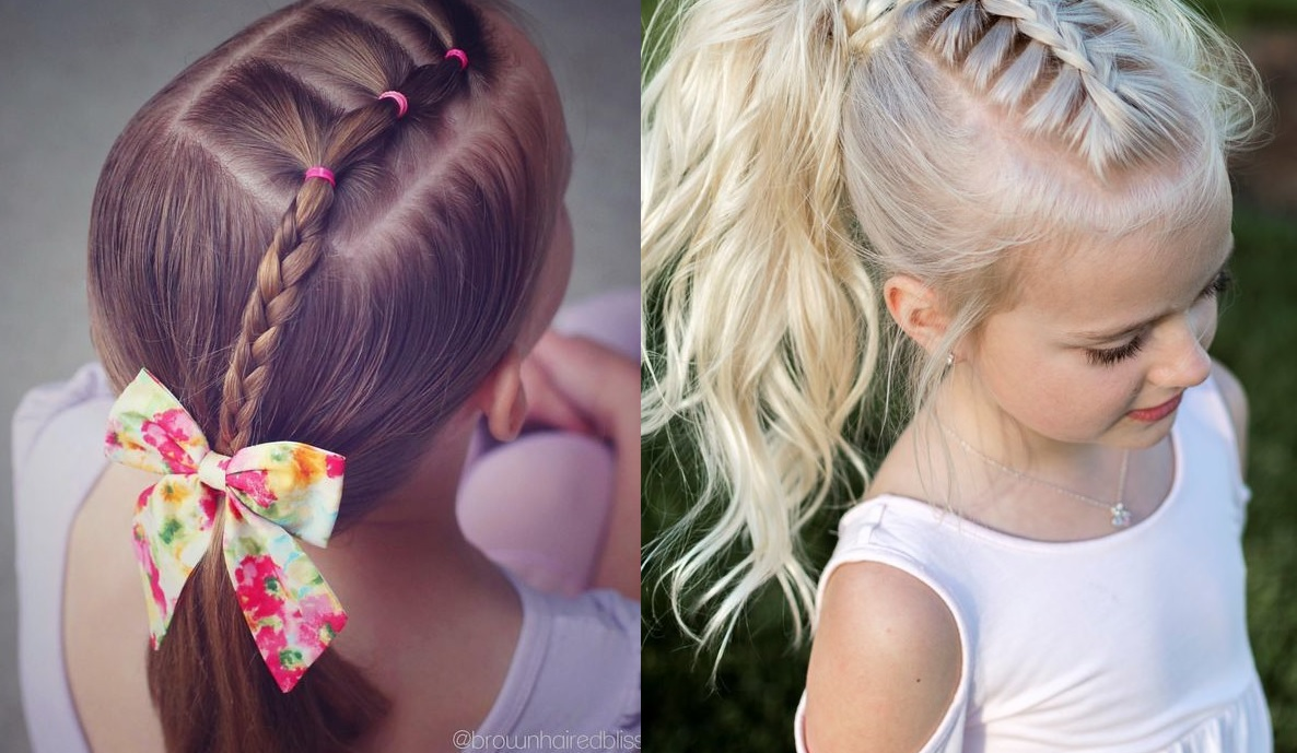 beautiful hairstyles for little girls on the occasion of the new school year Hairdressing