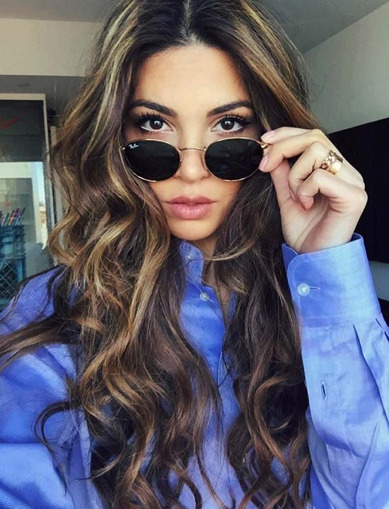 sweep hair: poke the best models of the stars Hair Color Ideas